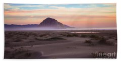 Sand Dunes At Sunset At Morro Bay Beach Shoreline  Beach Towel