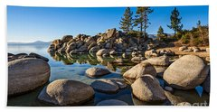 Sand Harbor Rock Garden Beach Towel
