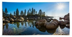 Sand Harbor Star Beach Towel