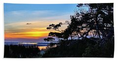 Sand Lake Sunset Beach Towel