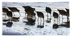 Sand Pipers Reflected Beach Towel
