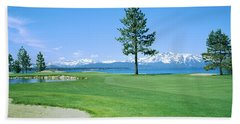 Sand Trap In A Golf Course, Edgewood Beach Towel