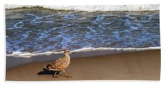 Sandpiper At Ortley Beach, Nj Beach Towel