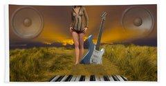 Sands Of Music Beach Towel