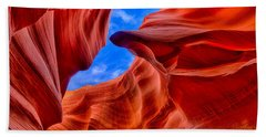 Beach Sheet featuring the photograph Sandstone Curves In Antelope Canyon by Greg Norrell