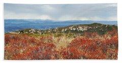 Beach Towel featuring the photograph Sandstone Peak Fall Landscape by Kyle Hanson