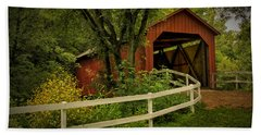 Sandy Creek Bridge Near Hillsboro Mo Dsc06888 Beach Sheet
