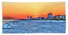 Sandy Sunset Beach Towel
