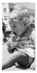 Sandy Toes For Lunch Beach Towel by Underwood Archives