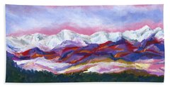 Sangre De Cristo Mountains Beach Towel by Stephen Anderson
