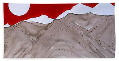 Sangre De Cristo Peaks Original Painting Beach Sheet
