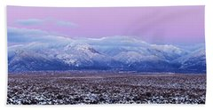Sangre De Cristo Range After Sunset Beach Towel