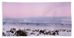 Sangre De Cristo Range With Clouds Beach Towel