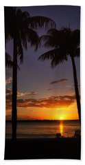 Sanibel Island Sunset Beach Towel by Kim Hojnacki