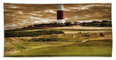 Beach Towel featuring the photograph Sankaty Head Lighthouse In Nantucket by Mitchell R Grosky