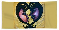 Beach Towel featuring the painting Sankofa Love by Gabrielle Wilson-Sealy