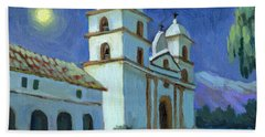 Santa Barbara Mission Moonlight Beach Towel