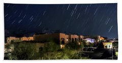Beach Towel featuring the photograph Santa Catalina Mountain Startrails by Dan McManus