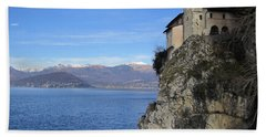 Beach Towel featuring the photograph Santa Caterina - Lago Maggiore by Travel Pics