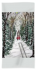 Santa Flying To Your House Beach Towel