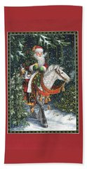 Santa Of The Northern Forest Beach Sheet