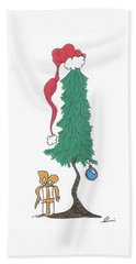 Santa Tree Beach Towel