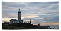 Santander Lighthouse - Spain Beach Towel by Shelia Kempf