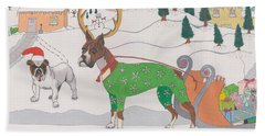 Santas Helpers Beach Towel