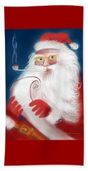 Santa's List Beach Towel