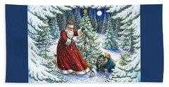Santa's Little Helpers Beach Towel