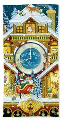 Santas Workshop Cuckoo Clock Beach Towel