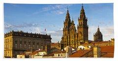 Santiago De Compostela Cathedral Galicia Spain Beach Sheet