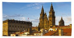 Beach Towel featuring the photograph Santiago De Compostela Cathedral Galicia Spain by Pablo Avanzini