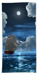 Santisima Trinida In The Moonlight 2 Beach Sheet