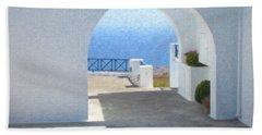 Santorini Grk8681 Beach Towel
