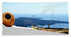 Santorini Rooftop Beach Towel