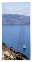 Santorini Sail Beach Towel