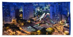Sao Paulo Skyline - Downtown Beach Towel