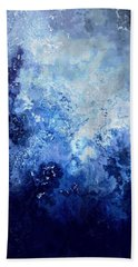 Sapphire Dream - Abstract Art Beach Towel by Jaison Cianelli