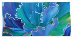 Beach Towel featuring the painting Sapphire Solitaire by Sandi Whetzel
