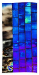 Beach Towel featuring the photograph Sapphire Sunset by Christiane Hellner-OBrien