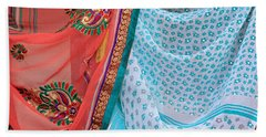 Saree In The Market Beach Towel by E Faithe Lester