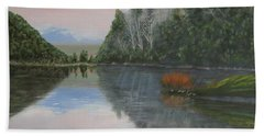 Sarita Lake On Vancouver Island Beach Towel