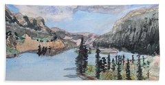 Saskatchewan River Crossing - Icefields Parkway Beach Towel