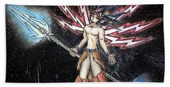 Satari God Of War And Battles Beach Towel
