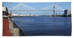Savannah River Bridge Ga Beach Towel
