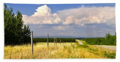 Beach Towel featuring the photograph Sawmill Creek Road by Cathy Mahnke