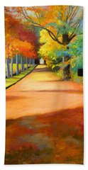 Sawmill Road Autumn Vermont Landscape Beach Towel