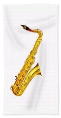 Saxophone Beach Towels