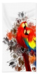 Scarlet Macaw Beach Towel by Lourry Legarde